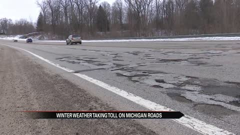 Winter weather taking toll on Michigan roads